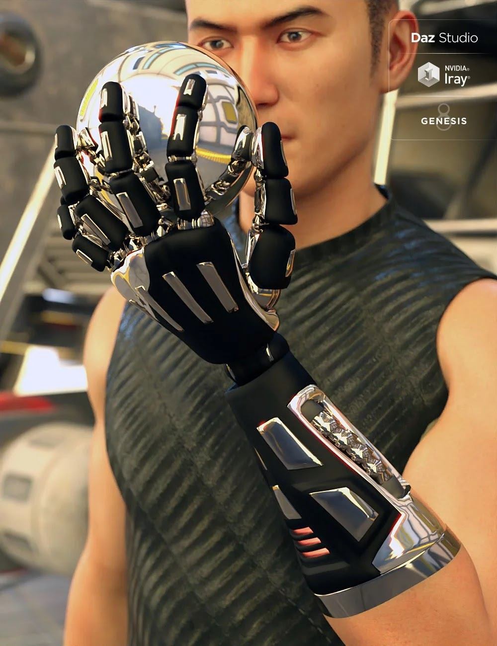 Bionic Forearms for Genesis 8|Poser and DAZ Studio 3D Models