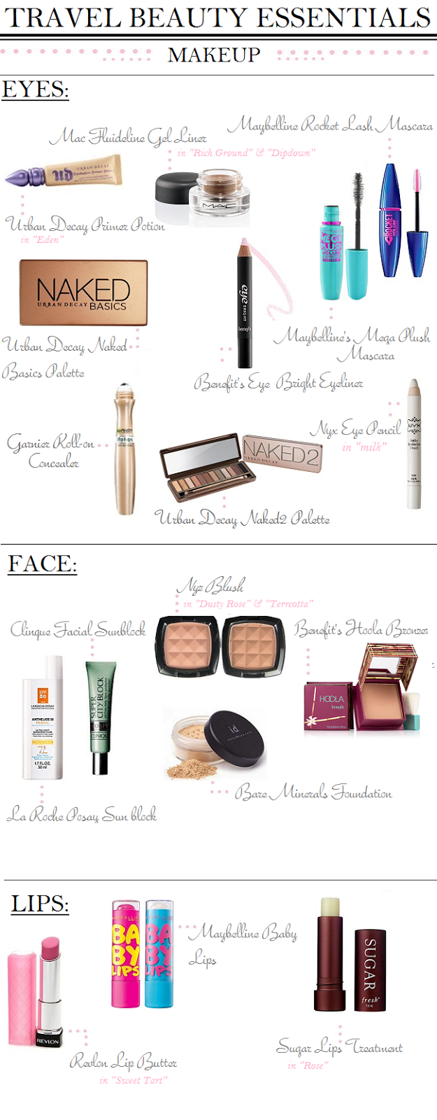 how to pack makeup for air travel
