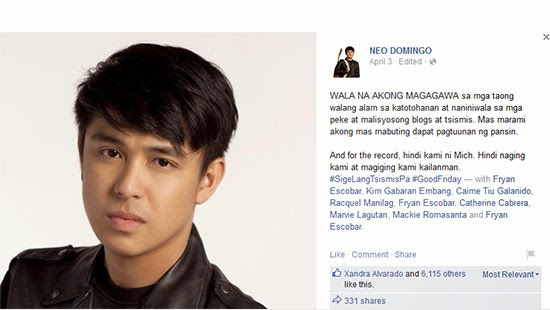 Neo Domingo: 'WALA NA AKONG MAGAGAWA' on Mich of Jamich issue