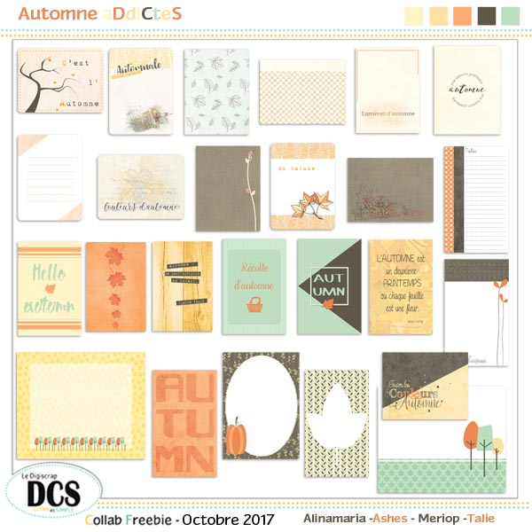DCS: Automne aDdiCteS  : journaling cards