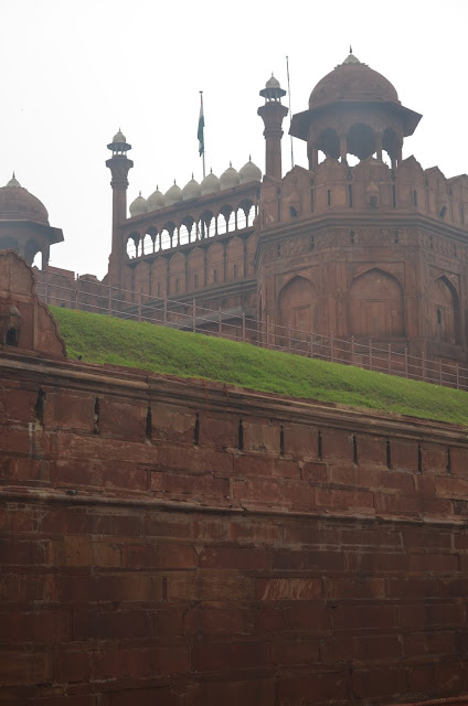 side view of Red Fort, Delhi