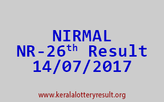 NIRMAL Lottery NR 26 Results 14-7-2017