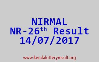 NIRMAL Lottery NR 26 Results 14-7-2017