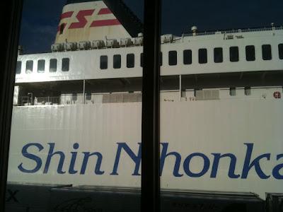 秋田フェリータミナルにて。GSX-R1000・2002での北海道ツーリング