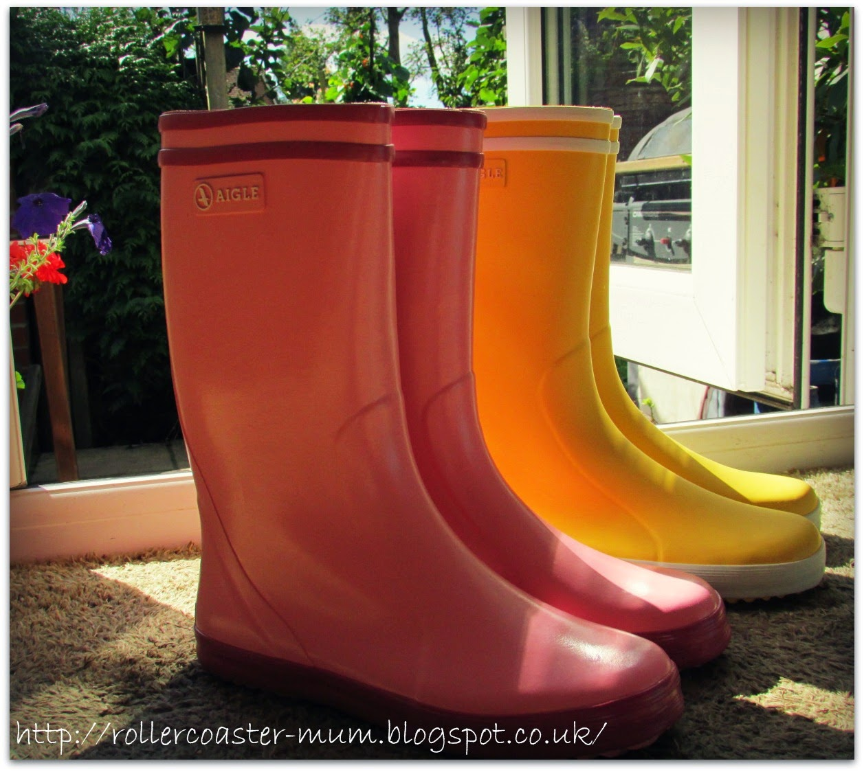 shiny new wellies, Aigle Lollypop