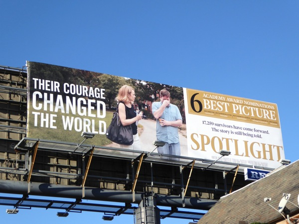 Spotlight Oscar consideration billboard