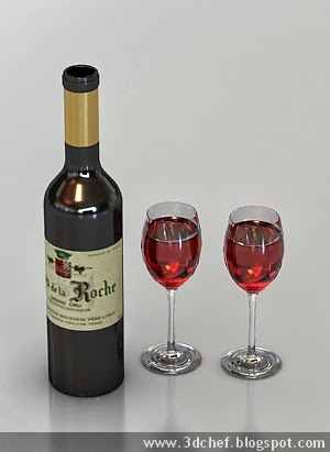 free 3d model wine bottle
