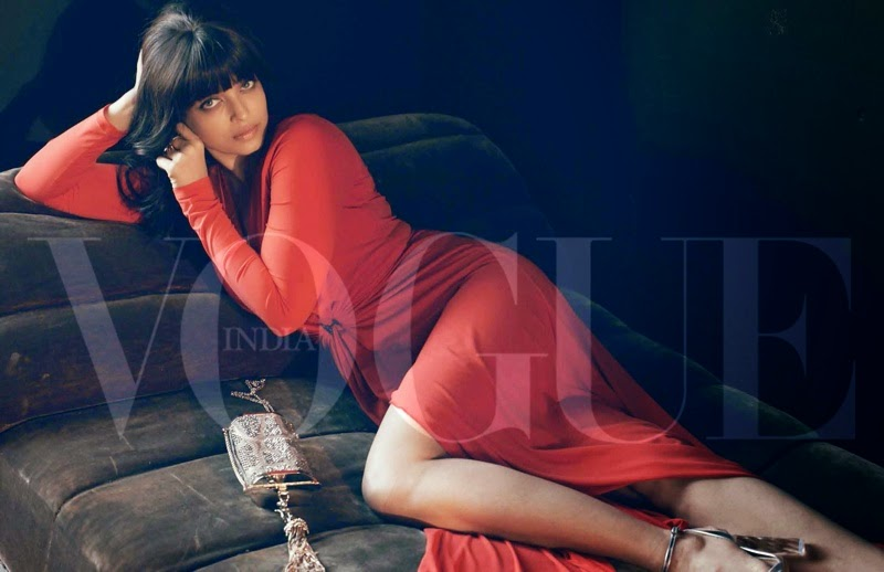 Aishwarya Rai flaunts a 70s style for the Vogue India March 2015 issue