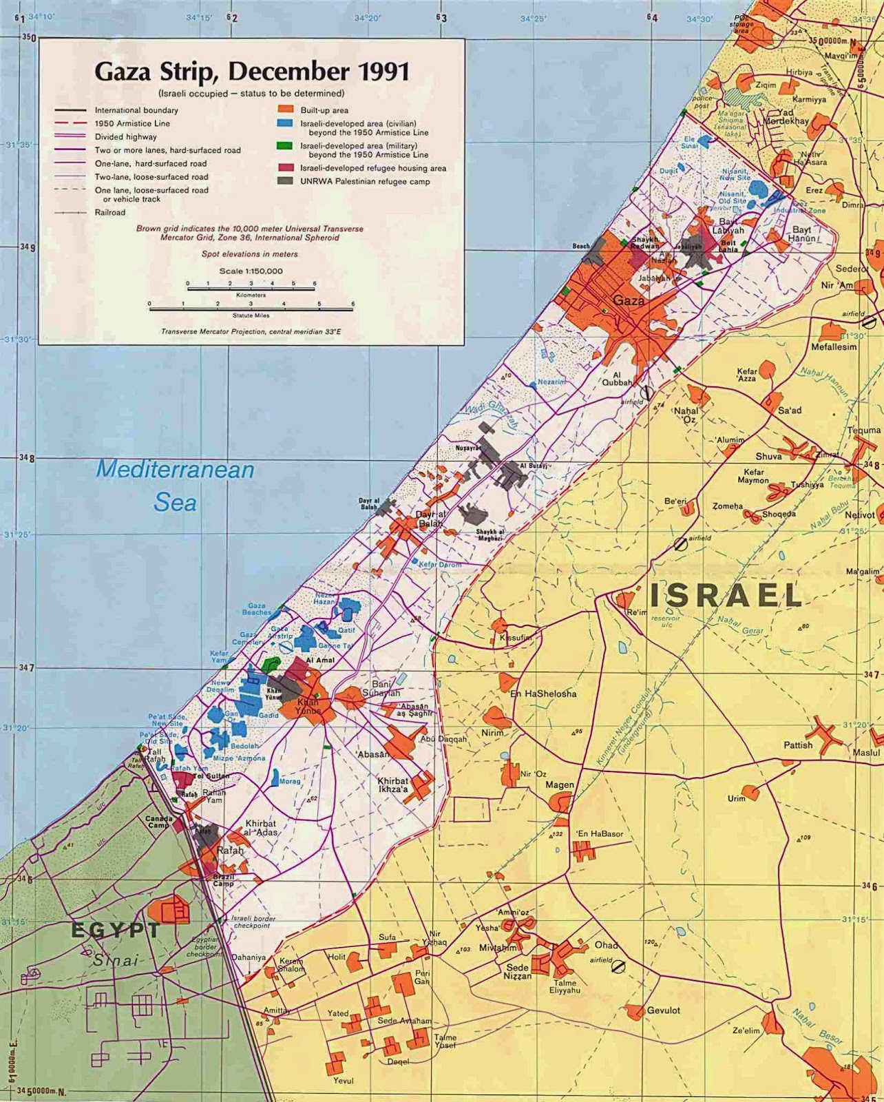 in these two un maps pdf of israel and the east mediterranean notice that the gaza strip is a part of egypt the peace treaty between israel and egypt