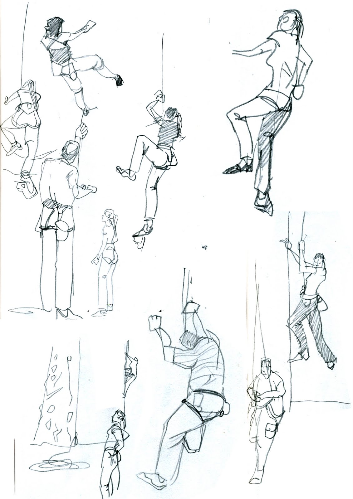 My Sketchblog: Climbing sketches