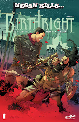 "San Diego Comic-Con 2016 Exclusive ""Negan Kills"" Birthright #17 Comic Book Variant Cover"