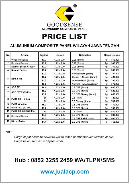 harga acp goodsense jawa tengah | harga acp murah jawa tengah