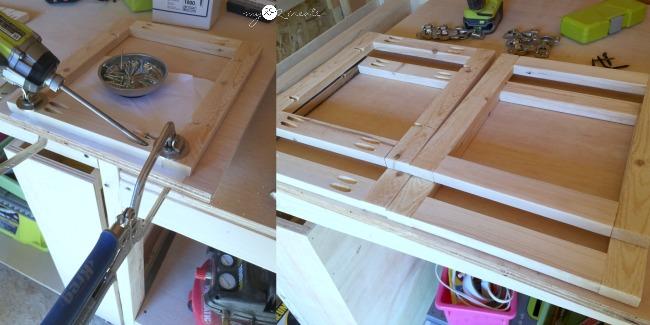building frames with pocket holes