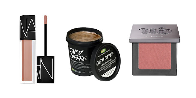 NARS Velvet Glide Lipstick, Lush Cup O Coffee Scrub, Urban Decay Blush, Beauty Blogger, College Blogger, Lifestyle Blogger