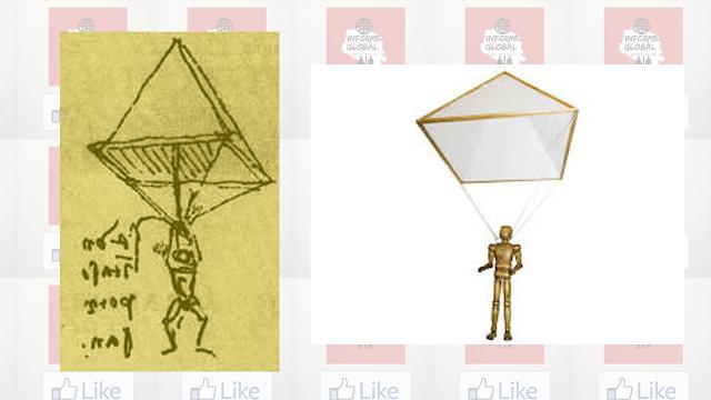 Invento de Leonardo Da Vinci : El paracaídas
