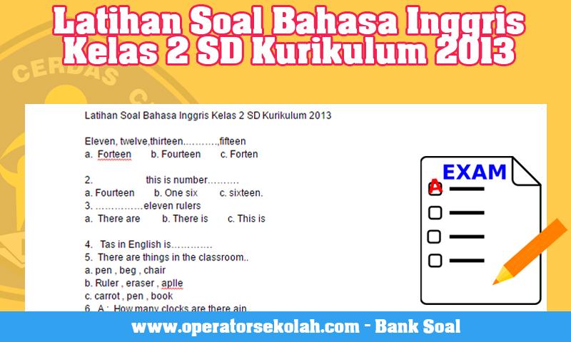 Evaluasi Belajar Semester Tahun Pelajaran Bahasa Inggris SD Kelas 2