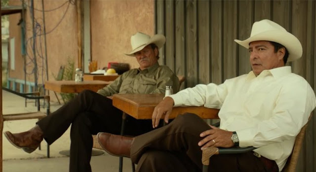 Jeff Bridges and Gil Birmingham, cracking wise on a stakeout