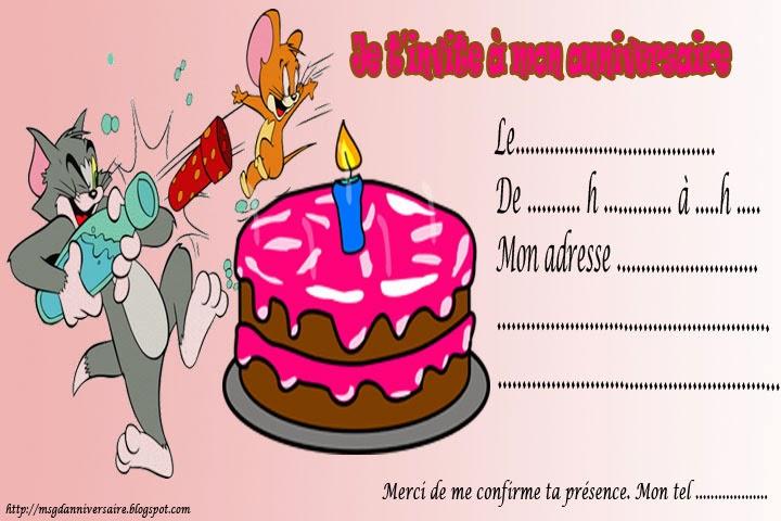 Des jolies cartes d'invitation d'anniversaire à imprimer
