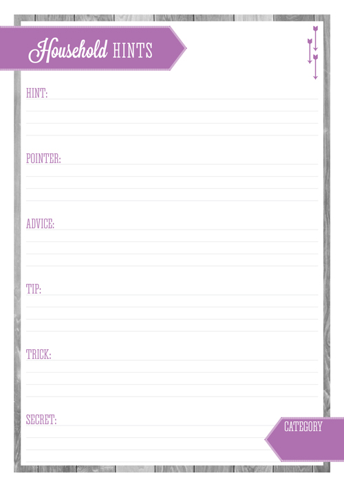 Free Printable Home Organizing Lists - Household Hints