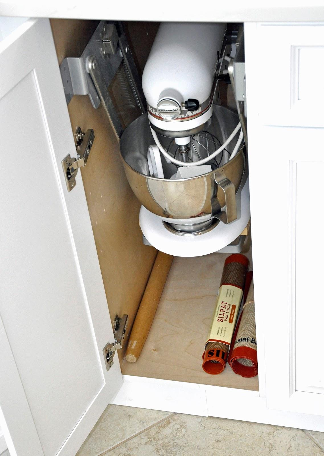 Best Kitchen Gallery: My Carolina Kitchen Remodeled Kitchen And Butler's Pantry Reveal of Kitchenaid Stand Mixer Storage Cabinet on rachelxblog.com