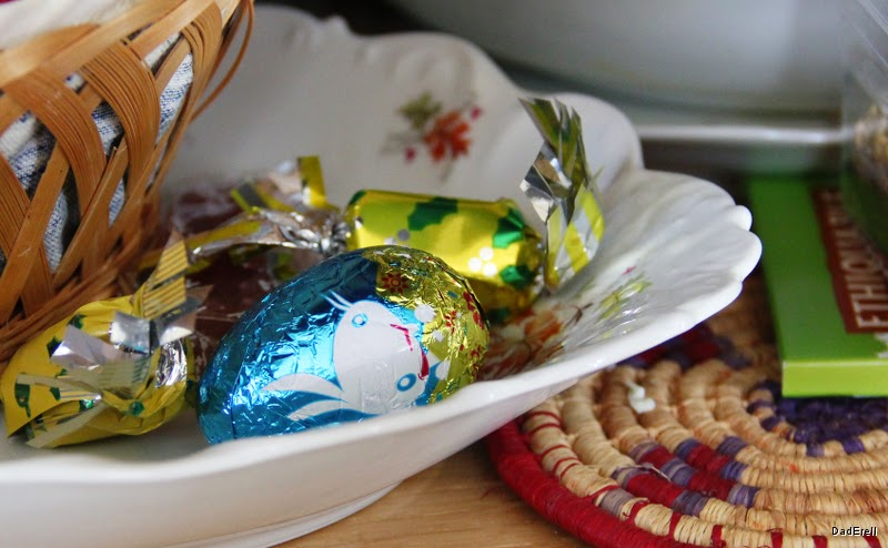 Oeuf de Pâques et friandises