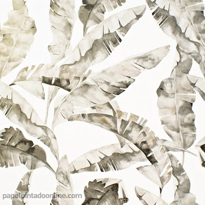papel pintado dorado intenso hojas de platanero