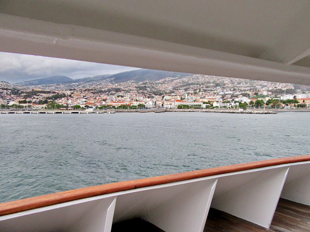 arrinving to Funchal in ship Lobo Marinho