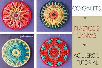 Diy Colgantes Plasticos Canvas Tutorial