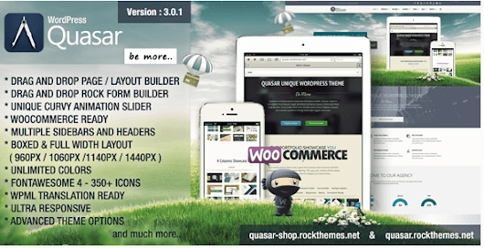 Free Download Quasar v3.0.1 – Responsive WordPress Theme with Animation Builder