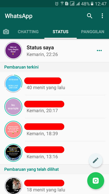 story atau status whatsapp