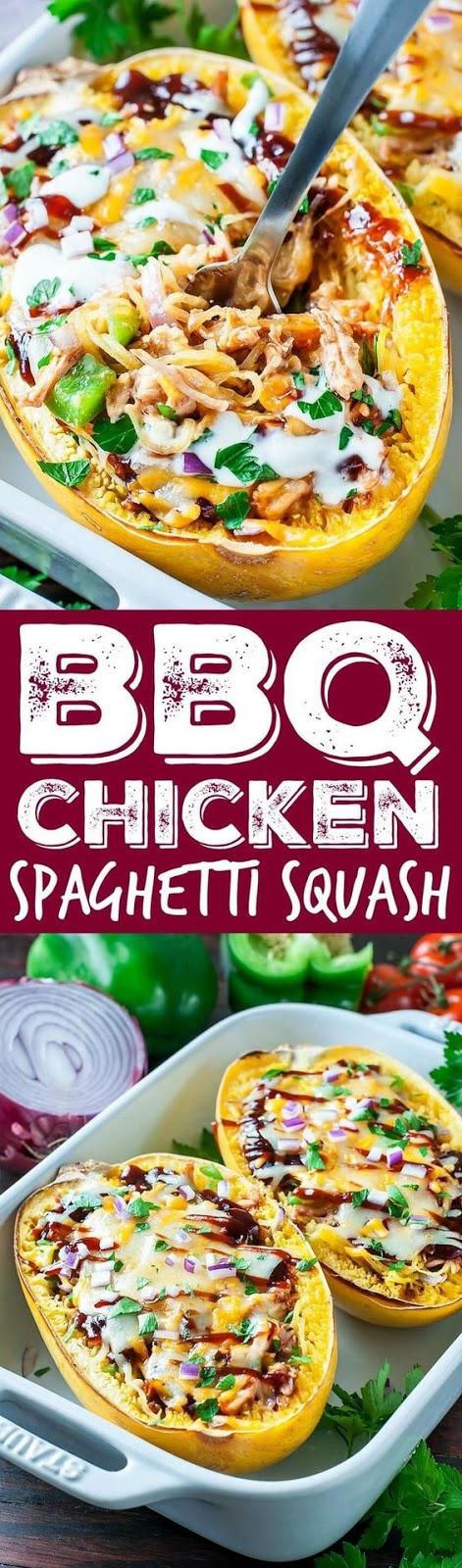 BBQ Chicken Spaghetti Squash