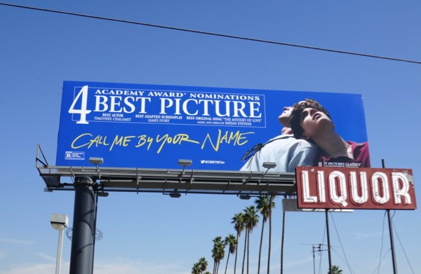 Call Me By Your Name Oscar nominations billboard
