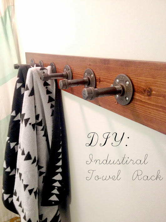 DIY: Industrial Towel Rack