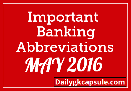 Important Banking Abbreviations Pdf - Full Form