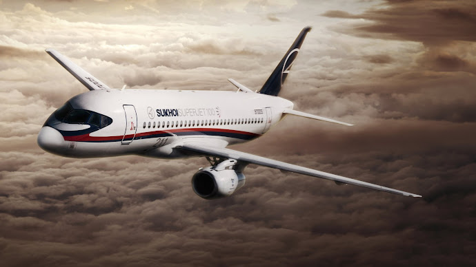 Wallpaper: Sukhoi Business Airplane