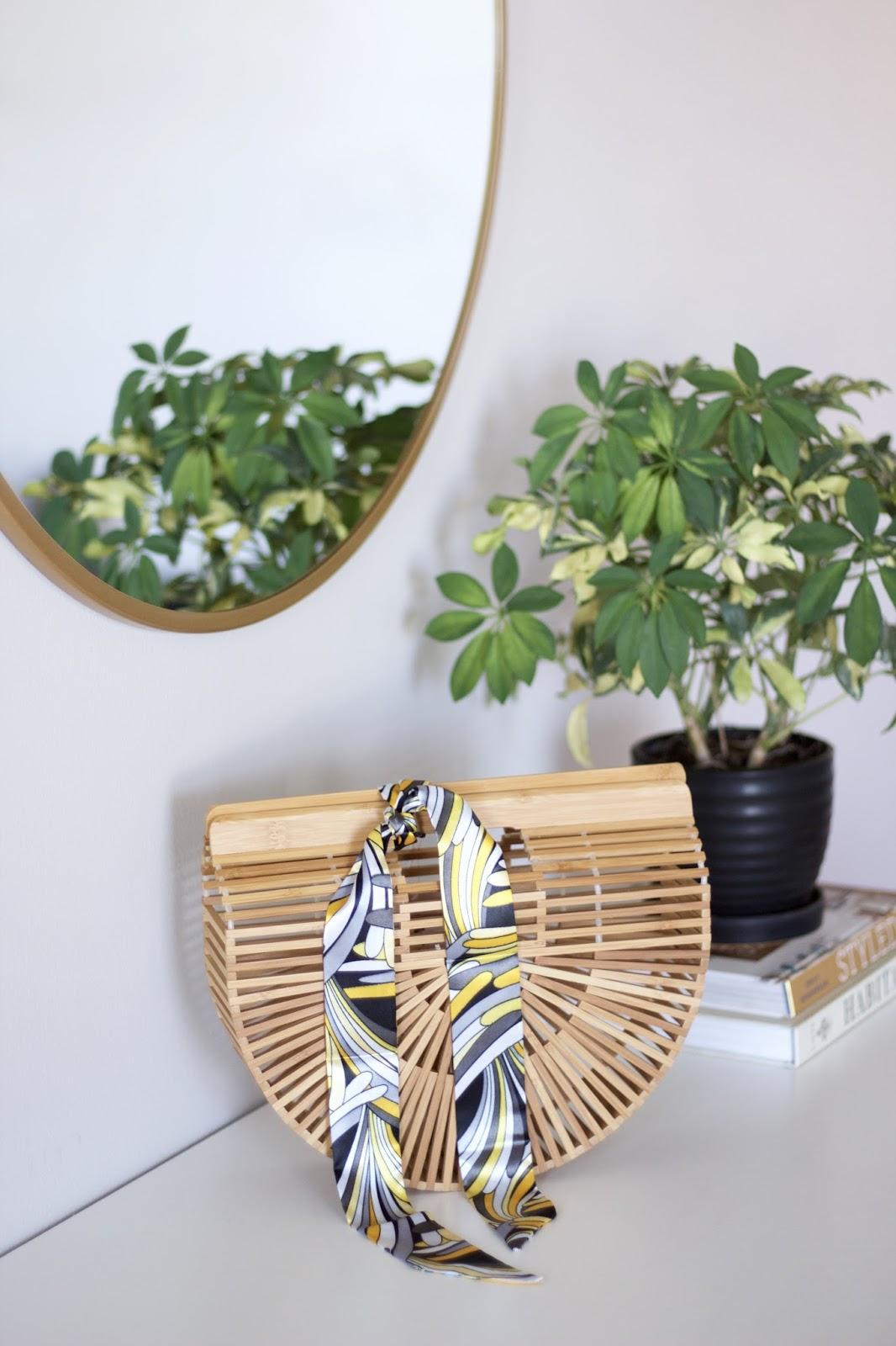 Handmade Bamboo Ark Purse Size Small
