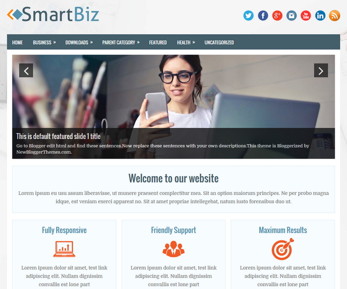 SmartBiz Blogger template