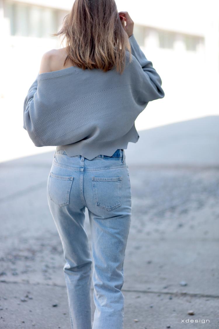 jeansy w stylu Vetements oraz sweter Dior