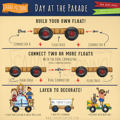 Day at the Parade Clip Art Set by Sarah Pecorino. Available on Educents.