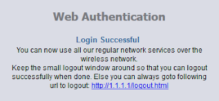 Login Successful Wifi Id