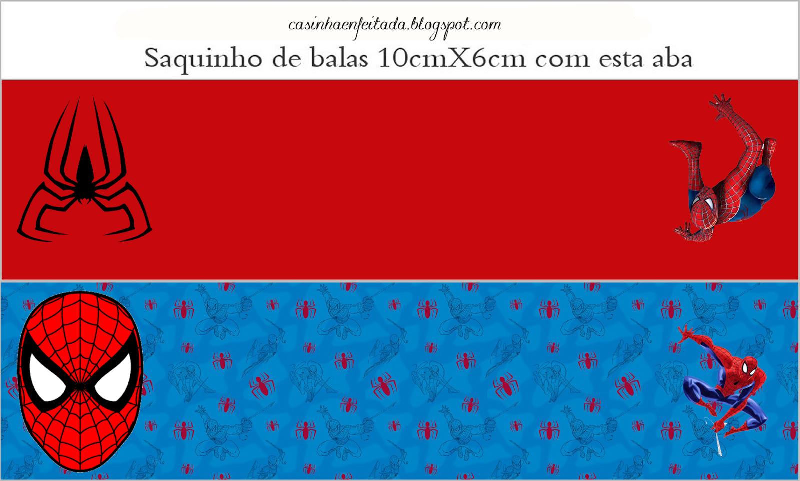 Spiderman Blue Background Free Printable Kit