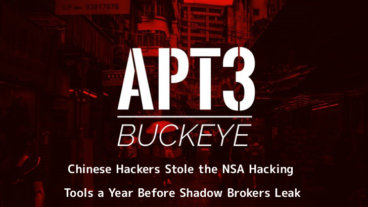 Buckeye Chinese Hackers Group stole NSA Hacking Tool in 2016