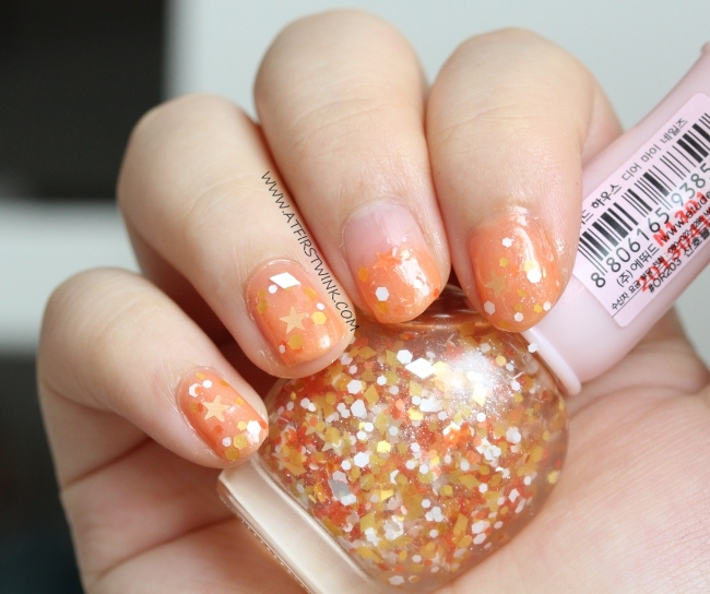 Etude House nail polish OR203 - Coral party