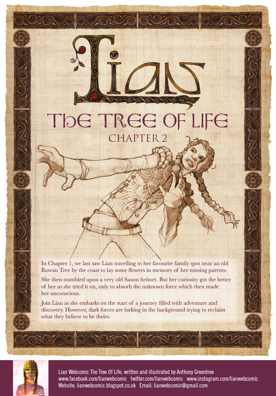 Lian Webcomic, The Tree of Life. Introduction page, chapter 2