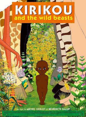 Otro cartel de la película Kirikú y las bestias salvajes