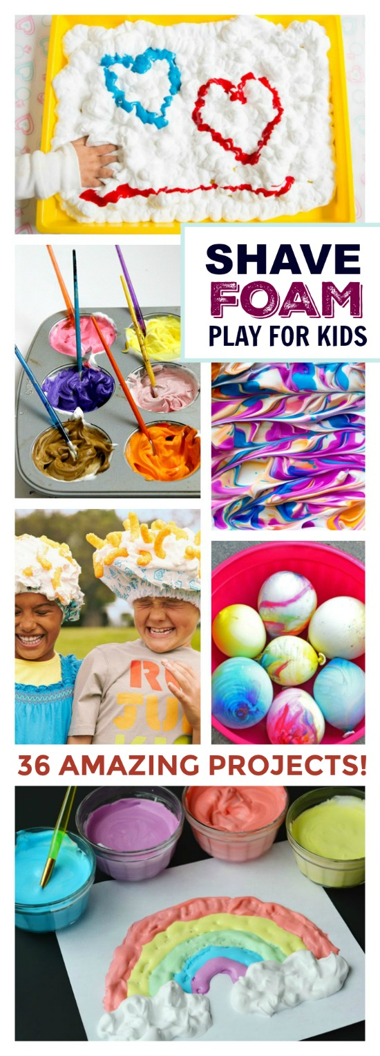 36 AMAZING KID ACTIVITIES USING SHAVING CREAM- I can't wait to try some of these!