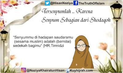 Tersenyumlah .. Karena tersenyum kepada sesama muslim adalah shadaqah - Kuy Hijrah