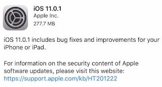 update ios 11.0.1