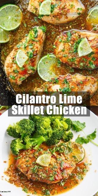 Delicious Cilantro Lime Skillet Chicken