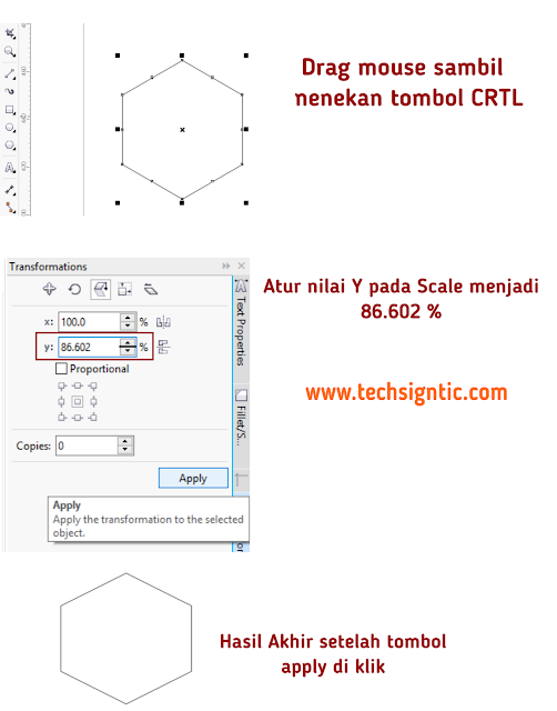Making grid for isometric art in CorelDraw 8